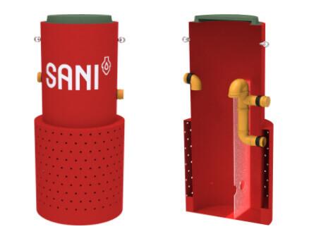 Септик со встроенным дренажом SANI-S - от 1 до 15 постоянно проживающих